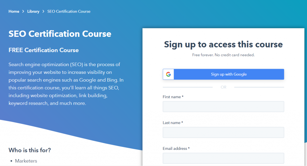 Best SEO courses for digital marketing
