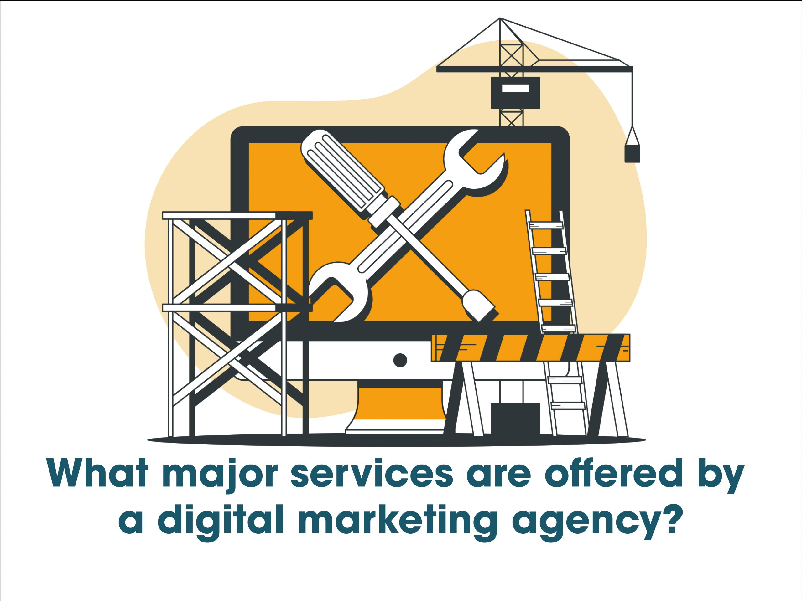 What major services are offered by a digital marketing agency
