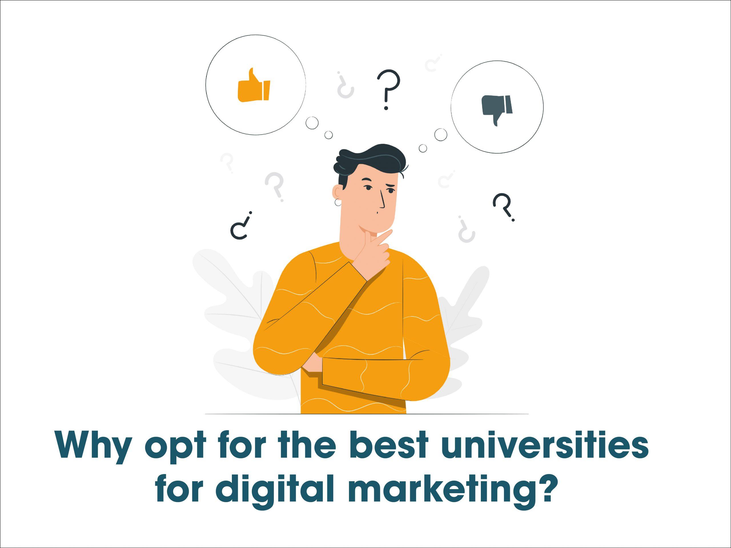 best universities for digital marketing